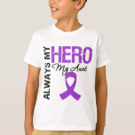 Pancreatic Cancer Always My Hero My Aunt T-Shirt
