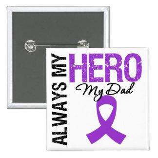 Pancreatic Cancer Always My Hero My Dad Pinback Button