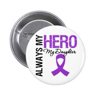 Pancreatic Cancer Always My Hero My Daughter Pinback Button