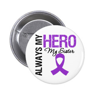 Pancreatic Cancer Always My Hero My Sister Button