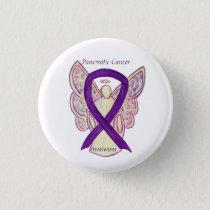Pancreatic Cancer Angel Awareness Ribbon Art Pins