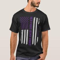 Pancreatic Cancer Awareness American Flag T-Shirt
