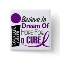 Pancreatic Cancer Awareness BELIEVE DREAM HOPE Pinback Button