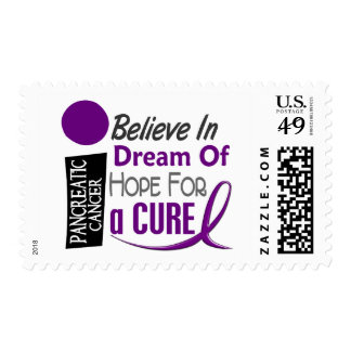 Pancreatic Cancer Awareness BELIEVE DREAM HOPE Postage