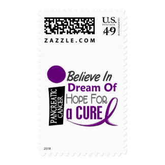 Pancreatic Cancer Awareness BELIEVE DREAM HOPE Postage