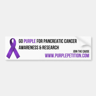 Pancreatic Cancer Awareness Bumper Sticker