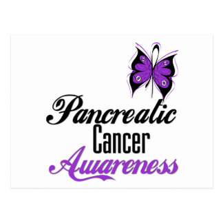 Pancreatic Cancer Awareness Butterfly Post Card