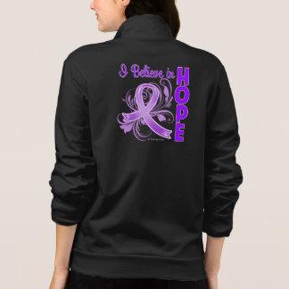 Pancreatic Cancer Awareness I Believe in Hope Printed Jacket