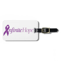 Pancreatic cancer awareness luggage tags