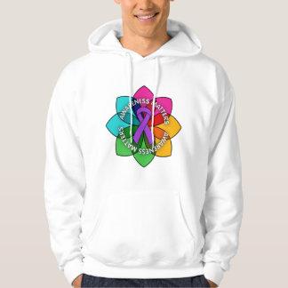 Pancreatic Cancer Awareness Matters Petals Hooded Sweatshirts