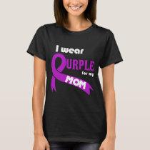 Pancreatic Cancer Awareness Mom Shirt Purple