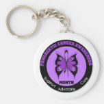 Pancreatic Cancer Awareness Month Butterfly Keychain
