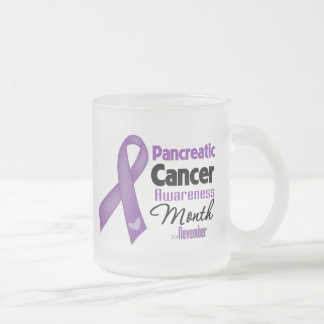 Pancreatic Cancer Awareness Month 10 Oz Frosted Glass Coffee Mug