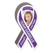 Pancreatic Cancer Awareness Photo Purple Ribbon Car Magnet