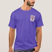 Pancreatic Cancer Awareness Ribbon Angel Tee