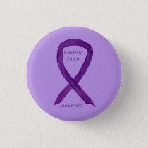 Pancreatic Cancer Awareness Ribbon Custom Art Pins