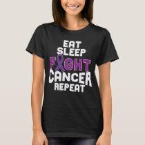 Pancreatic Cancer Awareness T-shirt Purple Ribbon