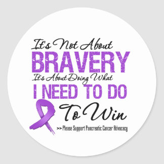 Pancreatic Cancer Battle Classic Round Sticker