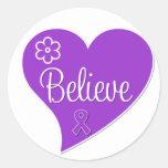 Pancreatic Cancer Believe Heart Sticker