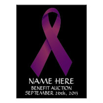 Pancreatic Cancer Benefit Auction Ribbon Poster