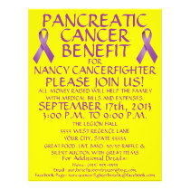 Pancreatic Cancer Benefit Flyer
