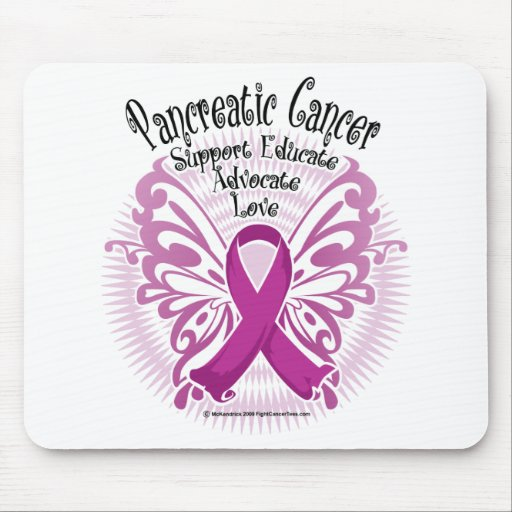 Pancreatic Cancer Butterfly 3 Mouse Pad