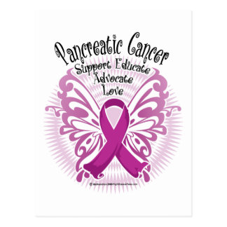 Pancreatic Cancer Butterfly 3 Postcard