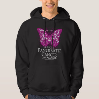 Pancreatic Cancer Butterfly Hoodie
