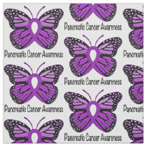 Pancreatic Cancer Butterfly of Hope Fabric