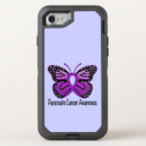 Pancreatic Cancer Butterfly OtterBox Defender iPhone 8/7 Case