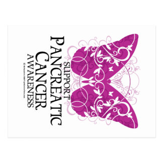 Pancreatic Cancer Butterfly Postcard