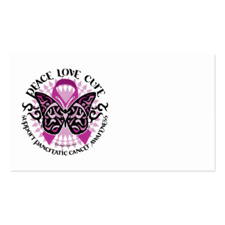 Pancreatic Cancer Butterfly Tribal 2 Business Card Templates