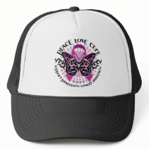 Pancreatic Cancer Butterfly Tribal 2 Trucker Hat