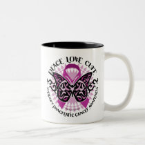 Pancreatic Cancer Butterfly Tribal 2 Two-Tone Coffee Mug