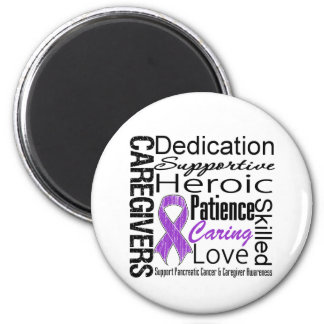 Pancreatic Cancer Caregivers Collage 2 Inch Round Magnet