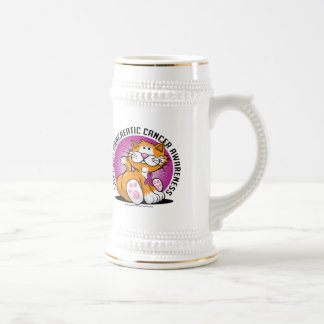 Pancreatic Cancer Cat Beer Stein