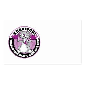 Pancreatic Cancer Cat Survivor Business Card