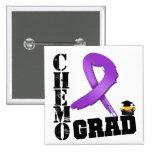 Pancreatic Cancer Chemo Grad Pinback Button