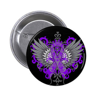 Pancreatic Cancer Cool Wings Button