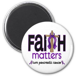 Pancreatic Cancer Faith Matters Cross 1 Magnets