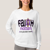 Pancreatic Cancer Faith Matters Cross 1 T-Shirt