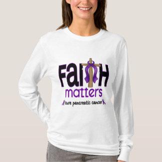 Pancreatic Cancer Faith Matters Cross 1 T-Shirt