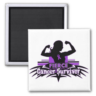 Pancreatic Cancer Fierce Cancer Survivor Fridge Magnet
