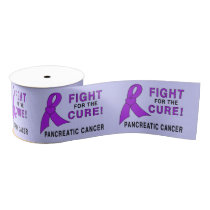 "Pancreatic Cancer Fight for the Cure 3"" Grosgrain Ribbon"