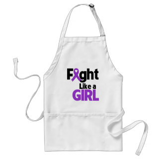 Pancreatic Cancer Fight Like a Girl Adult Apron