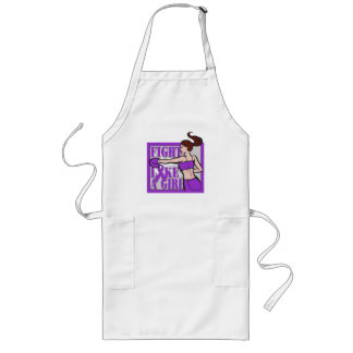 Pancreatic Cancer Fight Like A Girl Boxer Long Apron