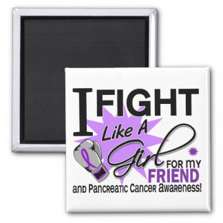 Pancreatic Cancer Fight Like A Girl Friend 11 Refrigerator Magnets