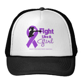Pancreatic Cancer Fight Like A Girl Knock Out Mesh Hat