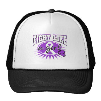 Pancreatic Cancer Fight Like A Girl Sporty Callout Hat