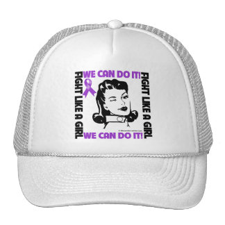 Pancreatic Cancer - Fight Like A Girl We Can Do It Mesh Hat